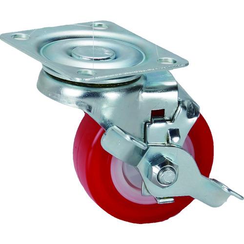 SAMSONGCASTER SAMSONG プレート式軽荷重用キャスター自在ストッパー付PU64mm TP362501PLYTGTLB