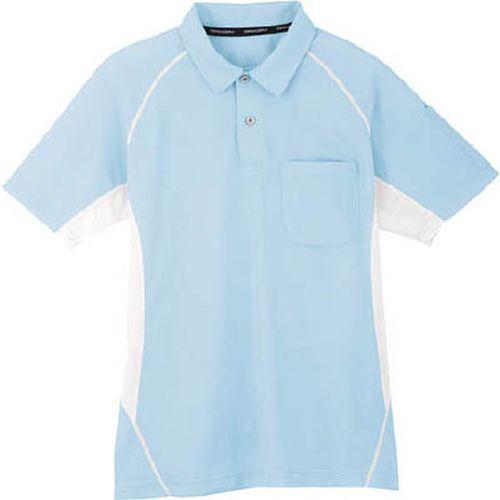 コーコス コーコス 半袖ポロシャツ 7サックス LL MX7077LL