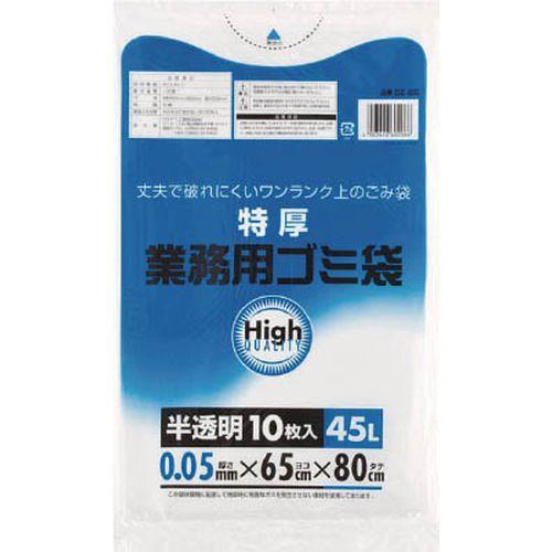 ワタナベ ワタナベ 業務用ゴミ袋 45L 特厚 白半透明 10枚入