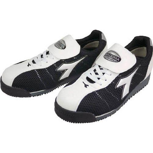 【クリックで詳細表示】DIADORA安全作業靴 キングフィッシャー 白/黒 KF-12 24