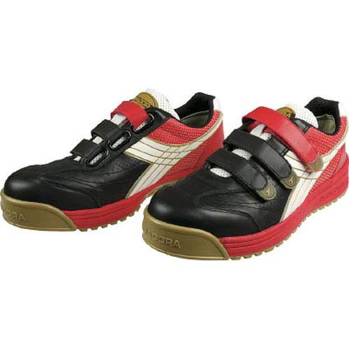 【クリックで詳細表示】DIADORA安全作業靴 ロビン 黒/白/赤 RB-213 24