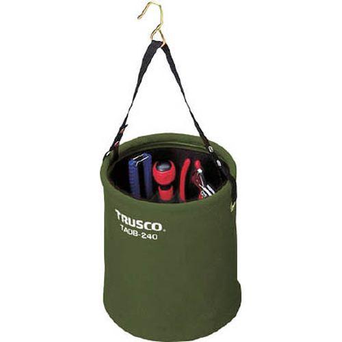 【クリックで詳細表示】TRUSCOアタッチメント付電工バケツΦ240X240 OD色
