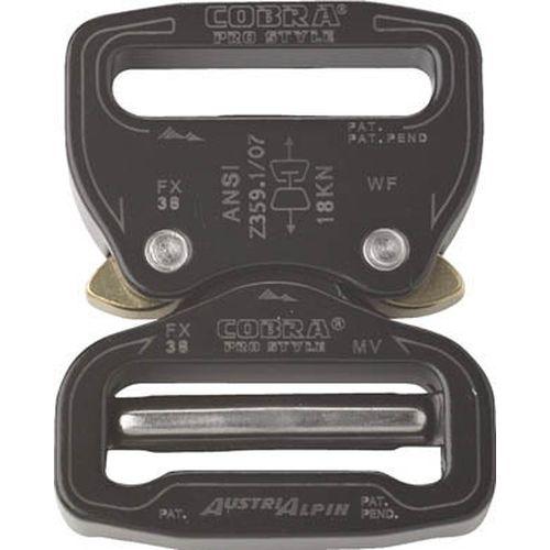 AUSTRIALPIN社 ALPIN COBRA PRO バックル 38MM ブラック FX38KVF [3856]