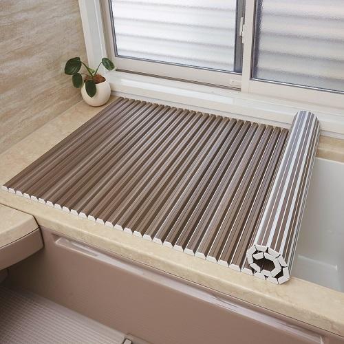 シャッター式風呂ふた フォレスト 70×80cm ナチュラル 化粧箱入 M8