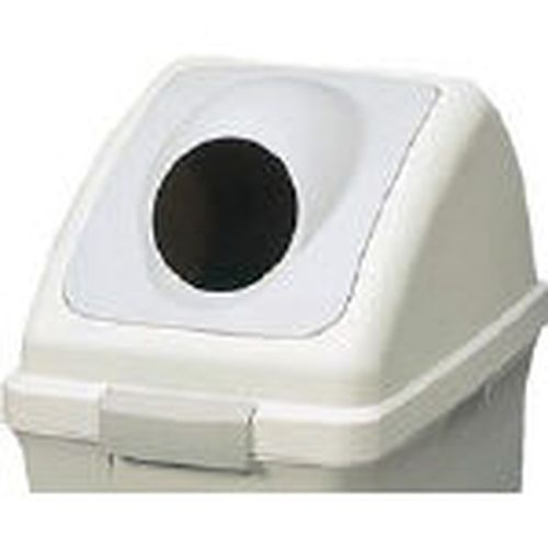リサイクルトラッシュECO-50 丸穴蓋 グレー (直送品)